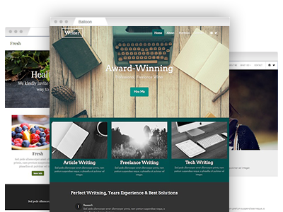 An assortment of fully customizable website templates